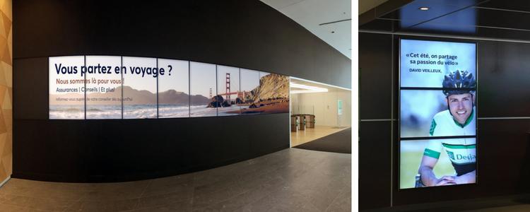 Mur d'écrans pour affichage dynamique