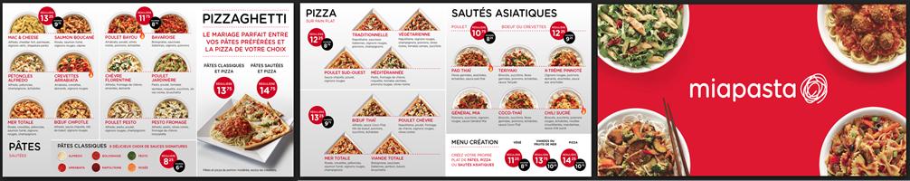 Écran d'affichage dynamique pour restaurant